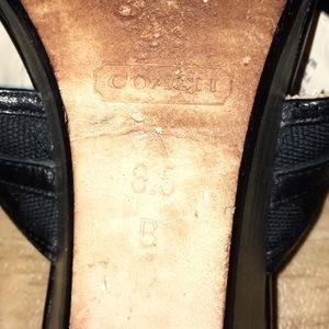 Coach Shoes - Coach Black Leather Sandals